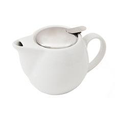 White Nova Stoneware Teapot with Infuser