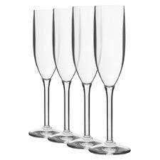 Belize 190ml Polycarbonate Champagne Glasses (Set of 4)