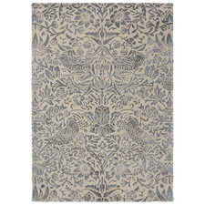 Ink Floral Strawberry Thief Hand-Tufted Rug