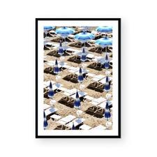 Blue Tops Framed Paper Print
