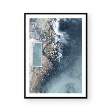 Ocean Pool III Framed Paper Print