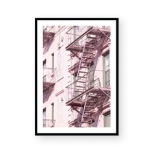 Pink Brooklyn Framed Paper Print