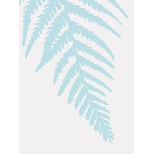 Blue Fern Unframed Canvas Wall Art