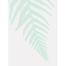 Green Fern Unframed Canvas Wall Art