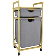 Banyan Deluxe Bamboo Storage Trolley
