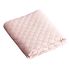 Blush Diamond Linen Cot Quilt