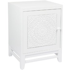 White Antonia Bedside Table