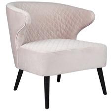 Talia Quilted Velvet Armchair