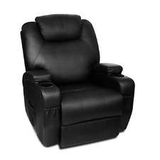 Faux Leather 8 Point Heated Lazyboy Armchair