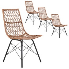 Lui PE Wicker Dining Chairs (Set of 4)