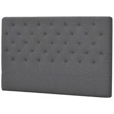 Grey Button Tufted Linen Headboard