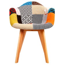 Eames Replica Patchwork Accent Armchairs (Set of 2)
