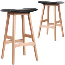 Black Ella Curve Top Barstools (Set of 2)
