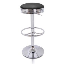 Retro Faux Leather Diner Barstools (Set of 2)