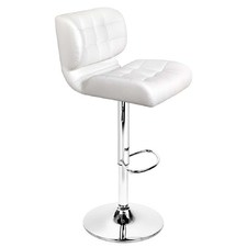 White Stacy Faux Leather Barstools (Set of 2)