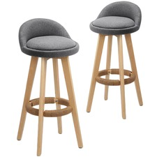 Davar Faux Leather Barstools (Set of 2)