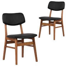 Greta Upholstered PU Dining Chairs (Set of 2)