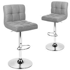 Kristen Panelled Adjustable Barstools (Set of 2)
