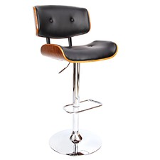 Melbourne Faux Leather & Wood Bistro Barstool