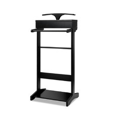 Black Valet Stand With Storage