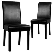 Faux Leather Dining Chairs (Set of 2)