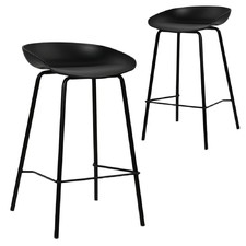 Modern Deanna Moulded Seat Barstools (Set of 2)