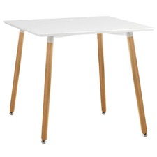 White Eames Replica DSW Cafe Dining Table