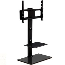 Media Stand with TV Bracket Shelf Mount