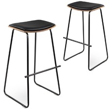 Dawson Backless Faux Leather Barstools (Set of 2)