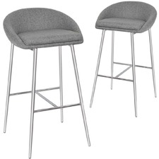 Clotilde Upholstered Barstools (Set of 2)