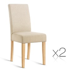 Set of 2 Pinault Upholstered Dining Chairs