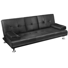 Tatum PU Leather 3 Seater Sofa Bed