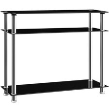 Black & Silver Entry Hall Console Table