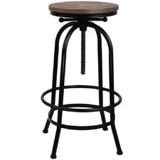 Zoe Adjustable Industrial Barstool