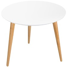 White Sigrid Round Side Table