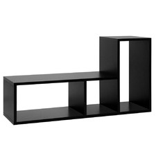Black DIY L Shaped Display Shelf