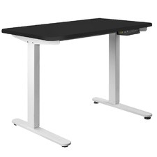 Black & White Motorised Adjustable Sit & Stand Desk