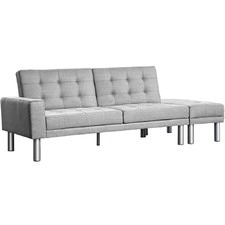 Grey Malloy 3 Seater Sofa Bed