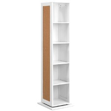 White Rotating Storage Cabinet