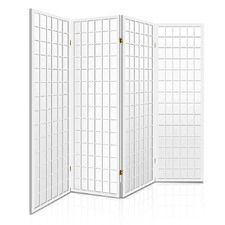 White 4 Panel Keiko Pine Wood Room Divider