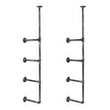 Wall Mount Pipe Bracket Shelf