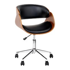 Retro Faux Leather Hugs Office Chair