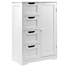 White Tallboy Storage Cabinet