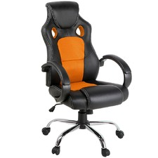 Racing Style Faux Leather Office Chair