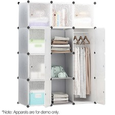12 Cube Stackable Storage Cabinet