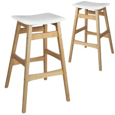 White Modern Perry Barstools (Set of 2)