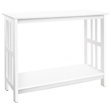 White Antibes Pine Wood Console