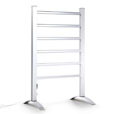 6 Rung Free-Standing Electric Heated Towel Rail