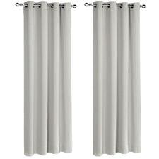 Ecru Eyelet Blockout Curtains (Set of 2)