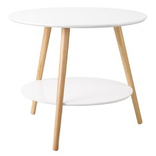 White 2 Tier Side Table